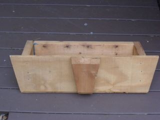 Storage Wooden Shed Window Flower Box Solid Wood Unfinished Plant