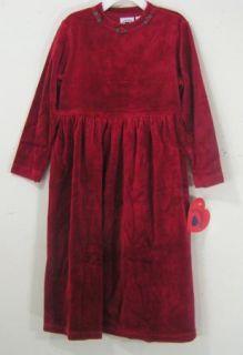 HARTSTRINGS Dark Red Velour Rose Party Dress NWT Girls Size 6X