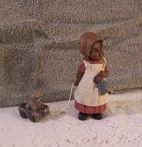 HOLCOMB 1987 BONNIE GOD IS LOVE #132 GIRL WITH DOLL WALKING DOG IN