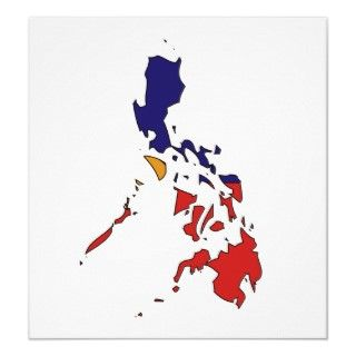 Philippines Flag Map full size Poster