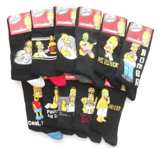The Simpsons Homer Bart Simpson Mens Novelty Socks Ideal Gift Dad