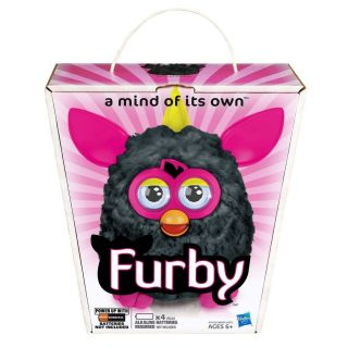 Hasbro Furby 2012 Punky Pink New Cool Colors Black Pink Yellow