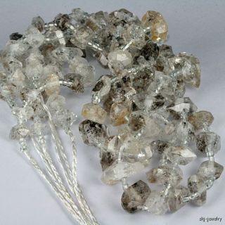 Herkimer Type Quartz Crystal Rough Beads Afghanistan