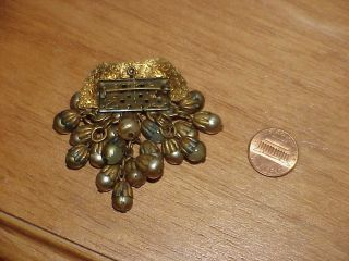 Vintage Jewelry Miriam Haskell Brooch WWII Hand Wired Bead Pierced