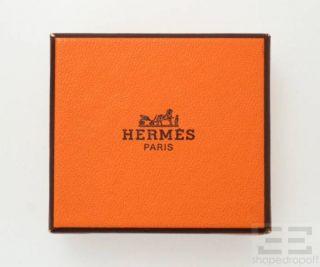 Hermes Gold Regate Scarf Ring Orange Leather Lanyard