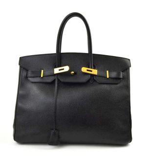 Hermes Black Togo Leather Birkin Bag 35 cm Handbag GHW
