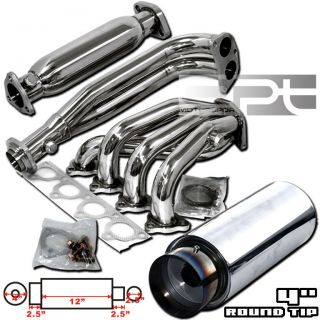 Honda Civic CRX Del Sol D15 D16 Stainless Exhaust Header Cat Pipe