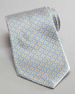 Stefano Ricci Medallion Silk Tie, Light Blue/Yellow   Neiman Marcus