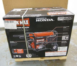 Honda Black Max 7000 Watt Portable Gas Generator w Electric Start