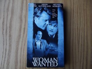 Woman Wanted VHS 2000 Holly Hunter Kiefer Sutherland Michael Moriarty
