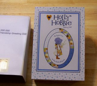 Holly Hobbie Marie Osmond Greeting Card Doll American Greetings New In