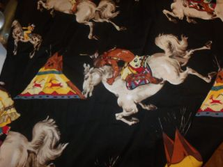 Alexander Henry Cotton Fabric Native Americans On Horses 2 3rds Yard