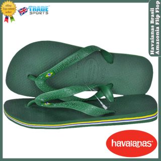 Havaianas Kids Boys Girls Size 1 2 Brasil Green Flip Flops Sandals