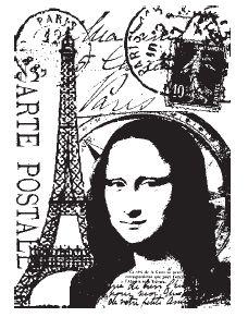 Tim Holtz ATC Size Cling Rubber Stamp COM015 Paris