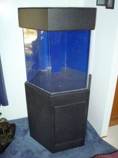 Approx 15 gallon hexagon oceanic aquarium fish tank for 55 gallon hexagon fish tank