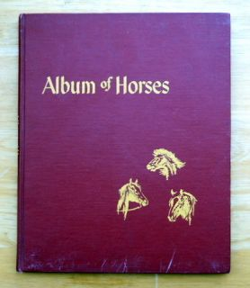 Marguerite Henry Album of Horses SIGNED by author picture book
