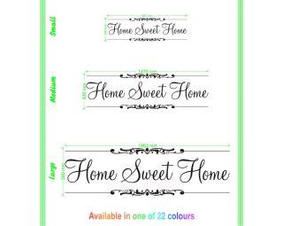 HOME SWEET HOME Vinyl Decal Wall Art Sticker