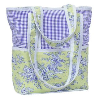 Striped with Etoile Lime Baby Diaper Bag Tote from Hoohobbers