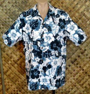 NWOT   HOWIE mens HAWAIIAN HIBISCUS FOLIAGE Print Shirt   2XL
