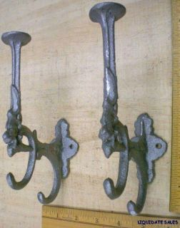 Head COAT HAT HALL TREE HOOKS 6.5x4 solid cast iron vintage style hook