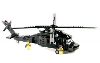 Custom Lego Army Black Hawk Helicopter Military UH 60