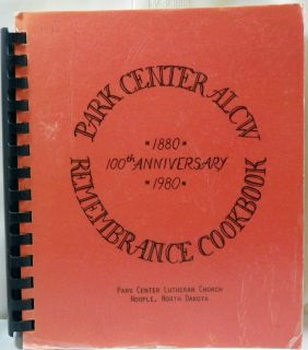 PARK CENTER LUTHERAN CHURCH Hoople North Dakota 1980 100th Anniversary