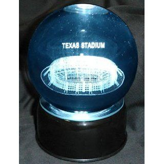 Dallas Cowboys Texas Stadium Laser Etched Crystal Ball