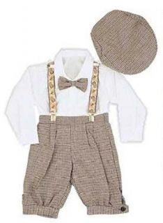 Infant & Toddler Boys Vintage Style Knickers Outfit 5 pc