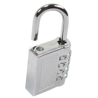 Password Lock Combination Zinc Alloy Padlock Silver Number Locks