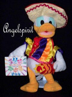 Mexico Mexican Donald Duck 8 Stuffed Plush Bean Bag Toy Paris Disney