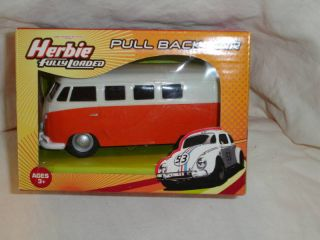 Planet Toys Herbie Fully Loaded Van Pull Back Car
