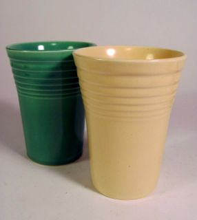 Lot 2 Vintage Fiesta Ware Tumblers Glasses by Homer Laughlin