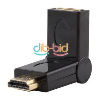HDMI Female to Male F M 180° Rotation Swivel 90° Folding Adapter