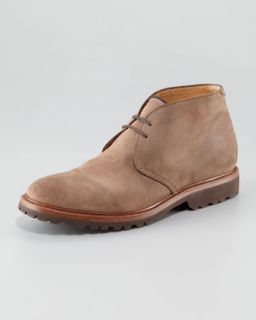 N1VCW Brunello Cucinelli Aged Leather Chukka