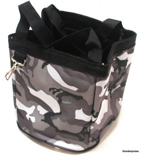 Grey Camo Print Tough 1 Grooming Caddy Horse Tack Equine