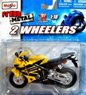 Yellow Honda Motorcycle CBR600 RR 600CBR Diecast 1 18 Motosport Sport