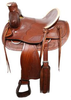 Trap Wade Style Saddle w High Back Seat New Horse Tack Saddle