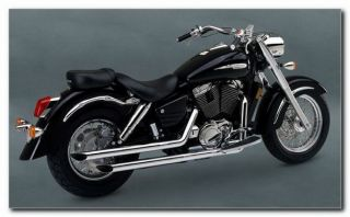 Exhaust Straightshots Chrome Honda Shadow Ace 1100 1995 1999