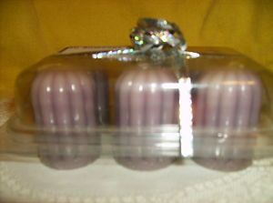 SET OF 6 HOME INTERIORS LILAC VOTIVE CANDLES 11215 candle NEW IN gift