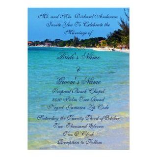 Jamaican Beach Tropical Wedding Invitation