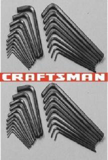40pc CRAFTSMAN SAE   Metric Hex Keys New Hand Tools Allen Wrenches LOT