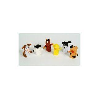 3 Old Macdonald Had a Farm Six Finger Puppets Set Plush