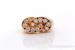 Designer Oscar Heyman 1 40ct Diamond 18K Gold Ring