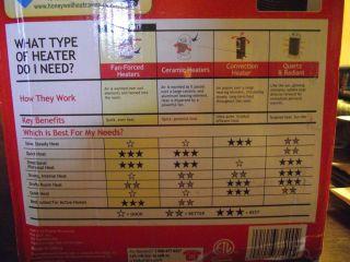 Honeywell Oscillating Fan Forced Heater Medium Room Energy Smart Cool