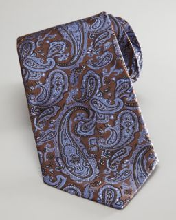 blue available in brown blue $ 215 00 stefano ricci paisley tie brown