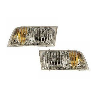 FOrd Crown Victoria Headlights OE Style Replacement Headlamps Driver