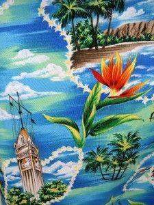 HILO HATTIE Beautiful HAWAIIAN Blue Floral Print DRESS Size Large NWOT