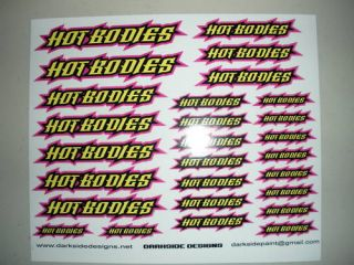 Custom Vinyl Printed Hot Bodies Decals