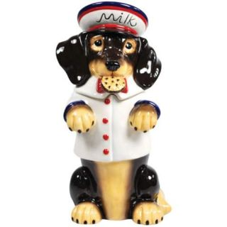 Hot Diggity Dachshund Milk Dog Ceramic Cookie Jar Westland Dog Treat