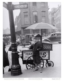 PHOTO HOT DOG STAND IN THE NORTH END HANOVER BLACKSTONE STREETS BOSTON